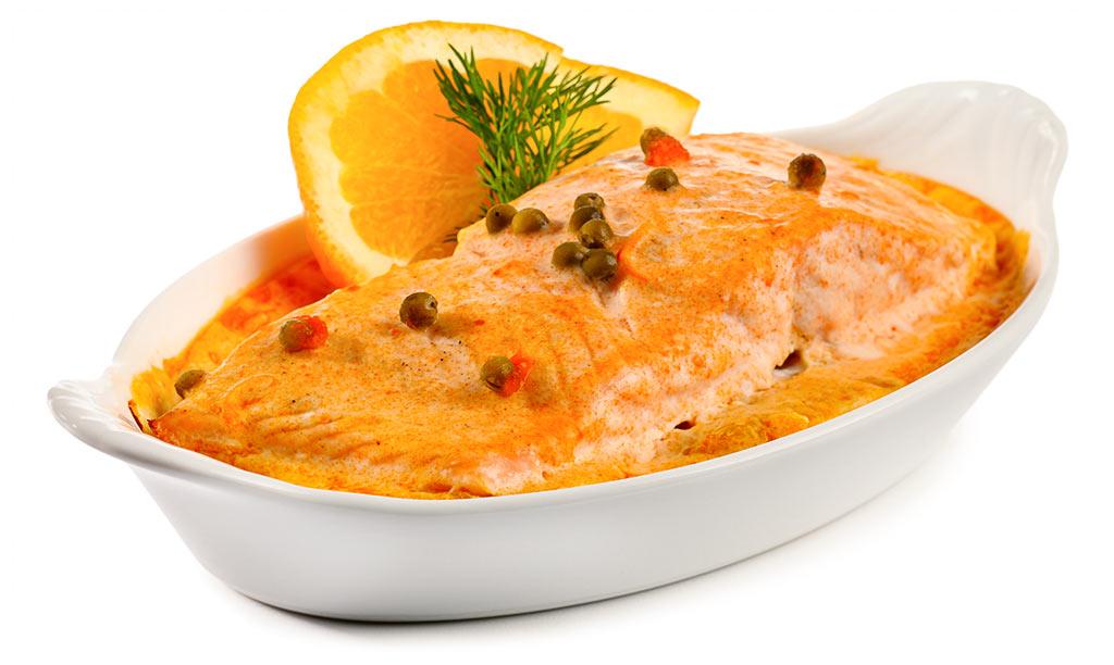 Salmon in Orange Sauce