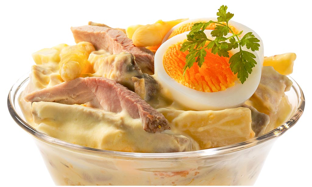 Rezept drucken eier salat - Eier hart kochen zeit ...