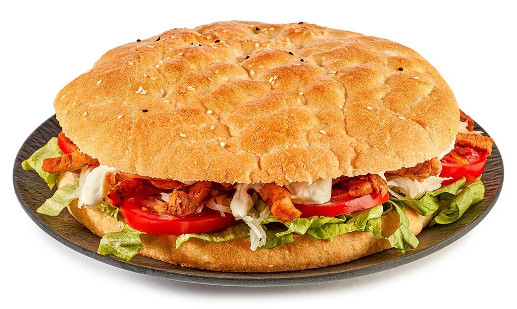 Gyros in flat bread