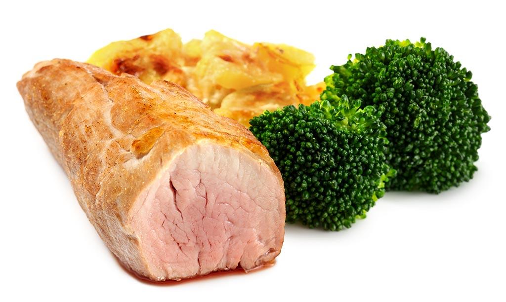 Pork fillet with potato gratin