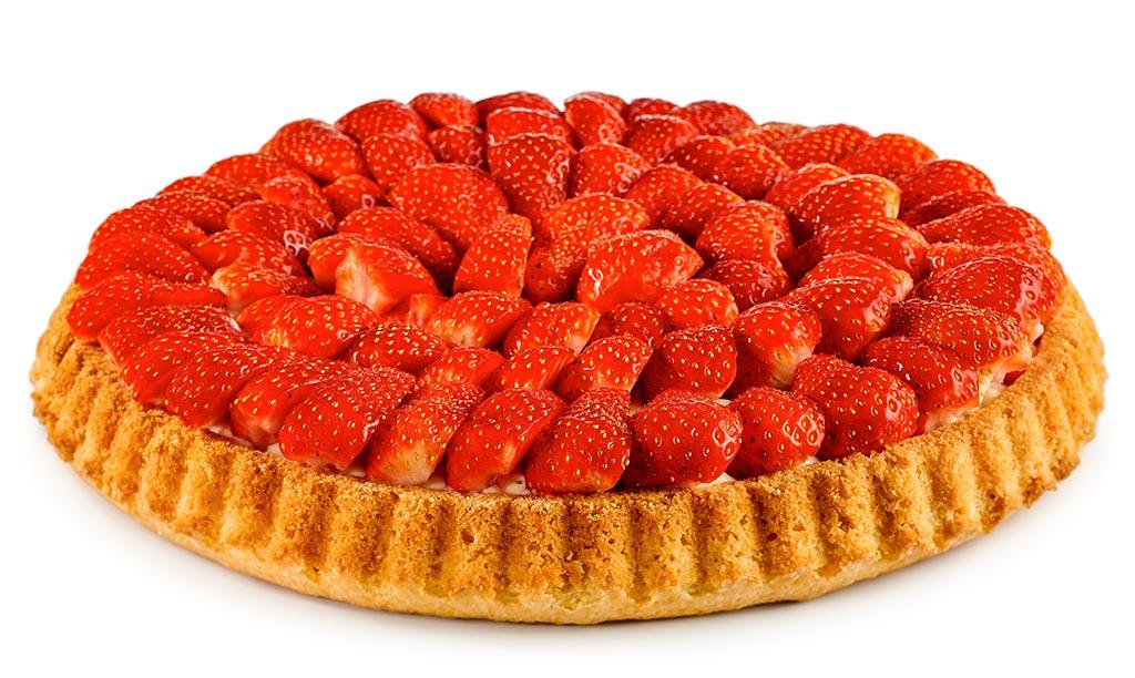 Strawberrycake with Vanilla Pudding