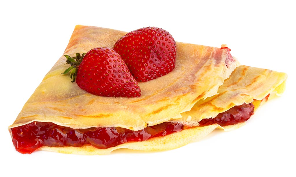Crepes With Strawberry Jam