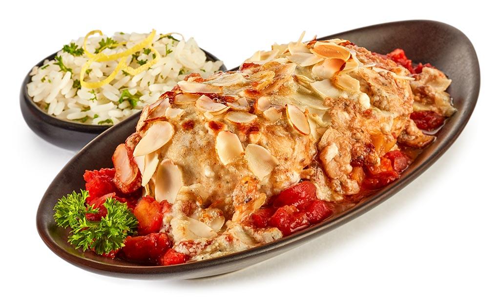 Chicken fillet with Roquefort hood