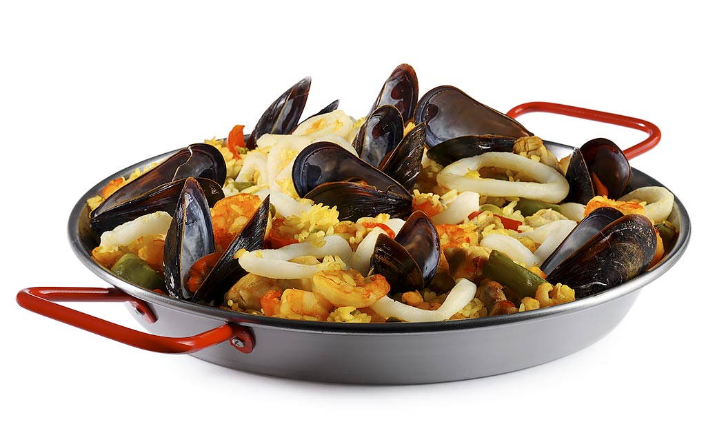 Paella rice pan