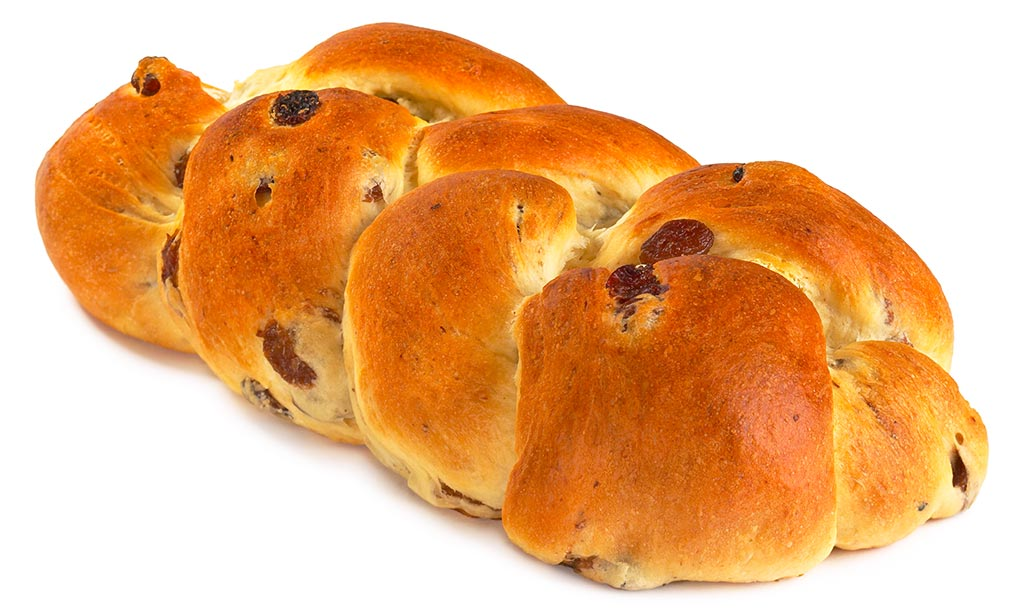 Braided Yeast Bread With Raisins