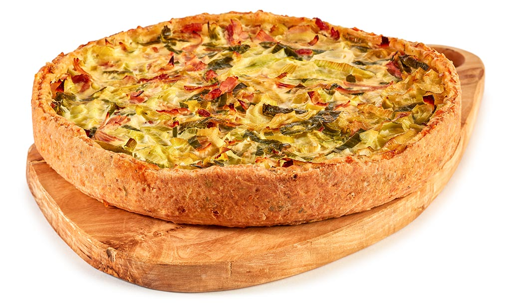 Ham And Leek Tart Recipe — Dishmaps