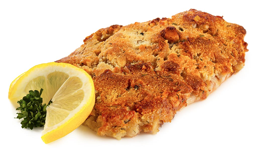 Fish with a Herb-Walnut Crust
