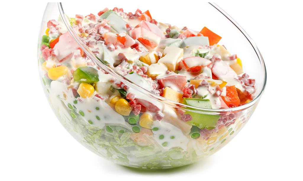 Rezept drucken schicht salat mit eisberg salat - Eier hart kochen dauer ...