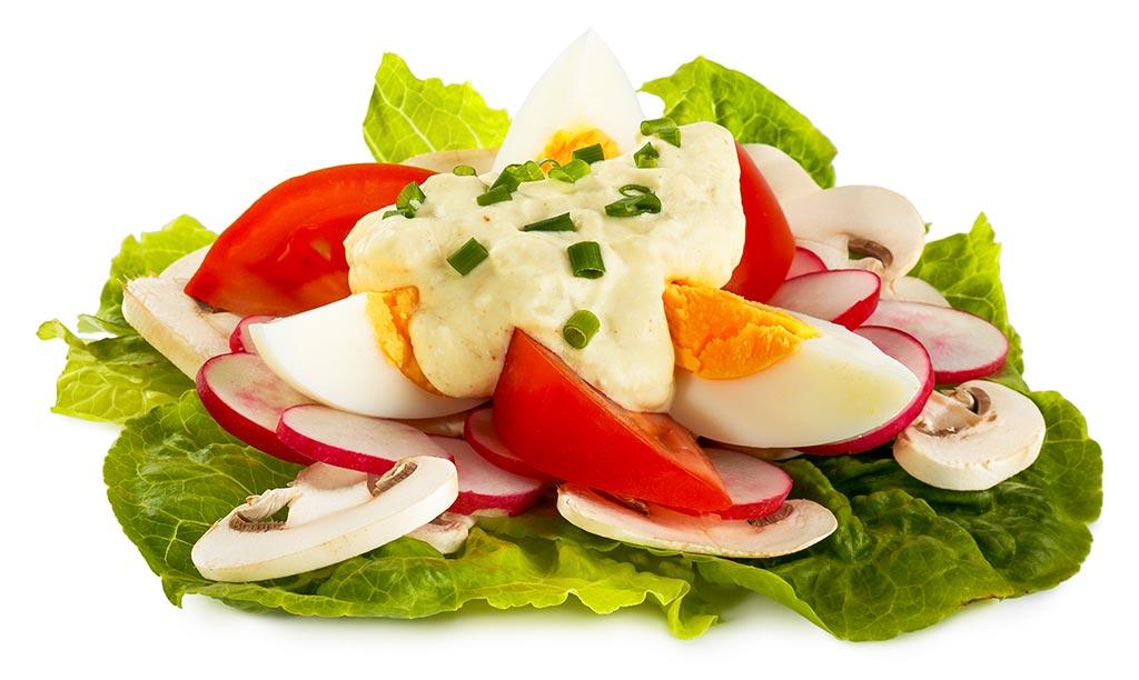 Rezept drucken power fr hlings salat - Eier hart kochen zeit ...