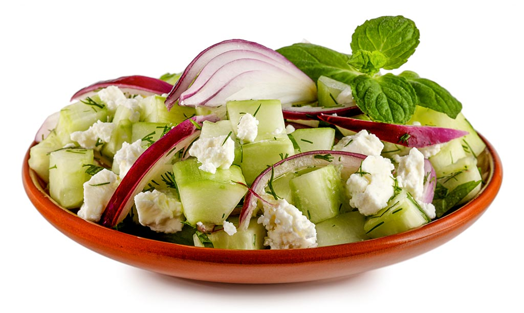 Cucumber Sheep Cheese Salad