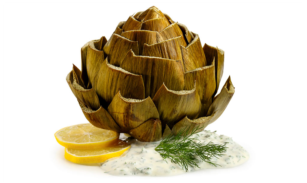 Artichokes with Herb Dip