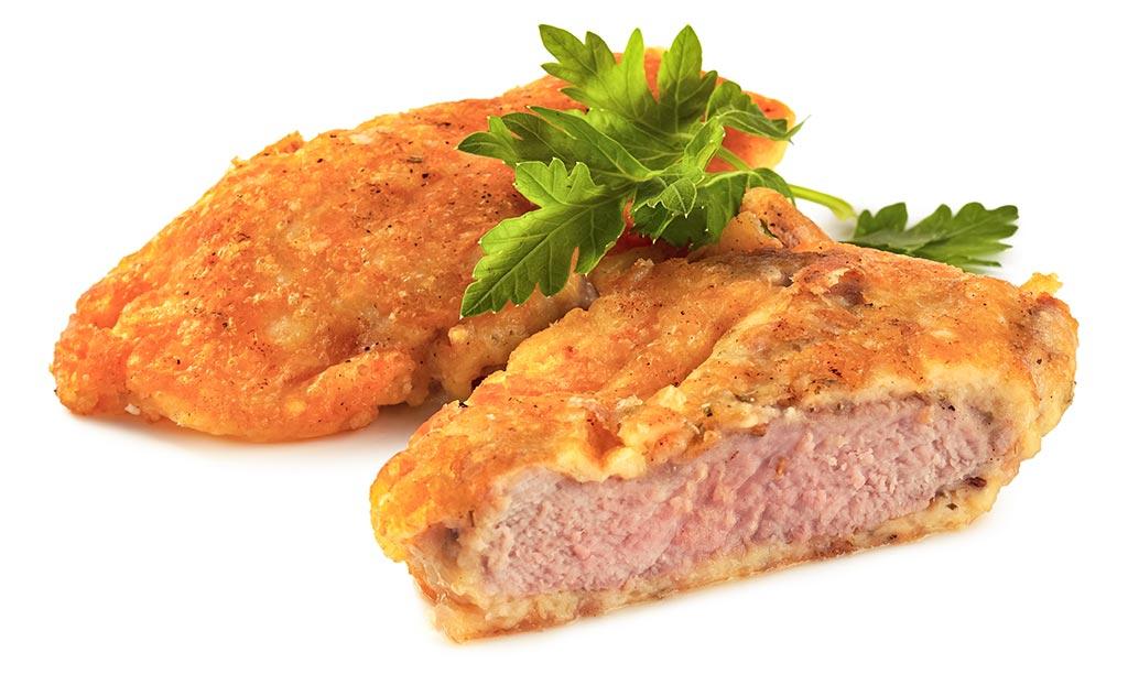 Pork fillet in parmesan wrapping
