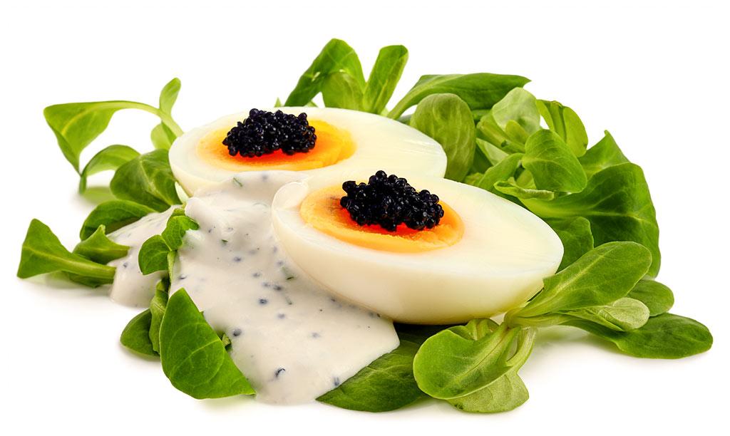 Chives caviar sauce