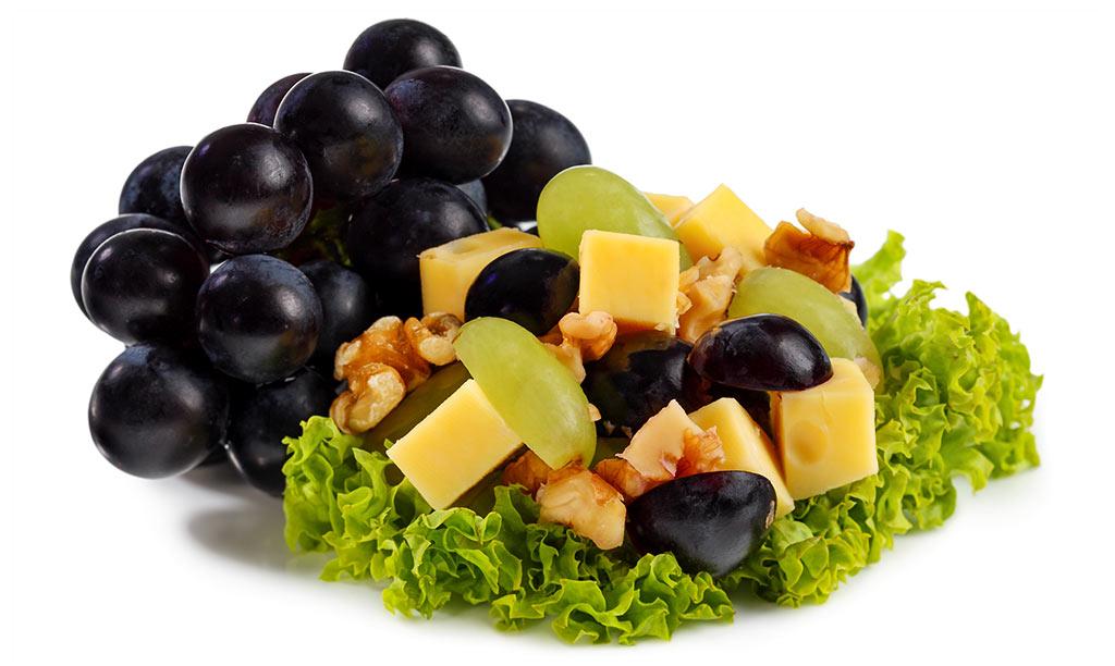 rezept drucken k se trauben salat. Black Bedroom Furniture Sets. Home Design Ideas