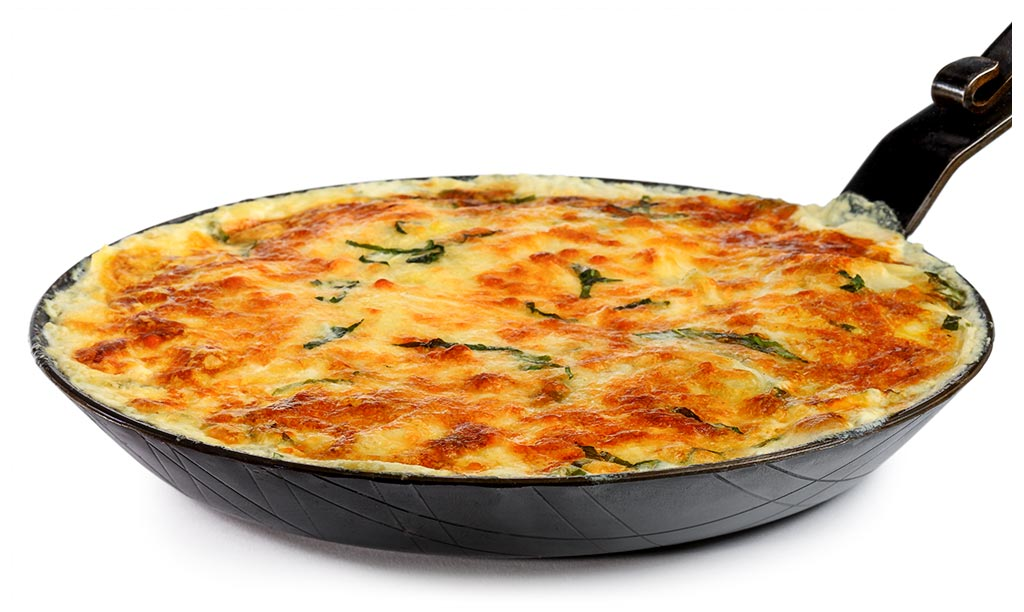 Wild Garlic Potato Gratin