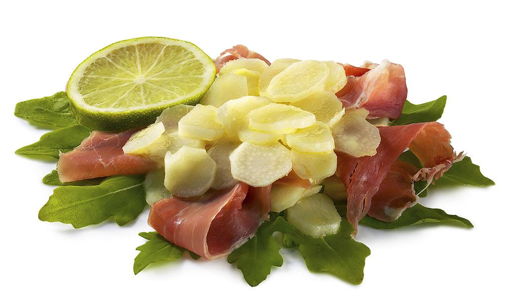 Asparagus salad with ham