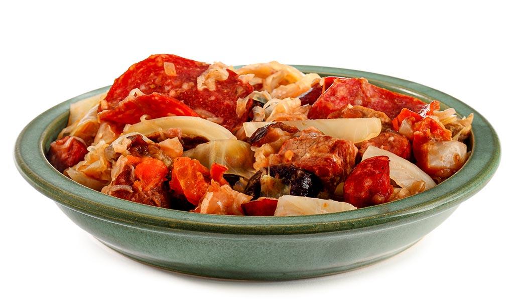 Bigos Polish cabbage stew