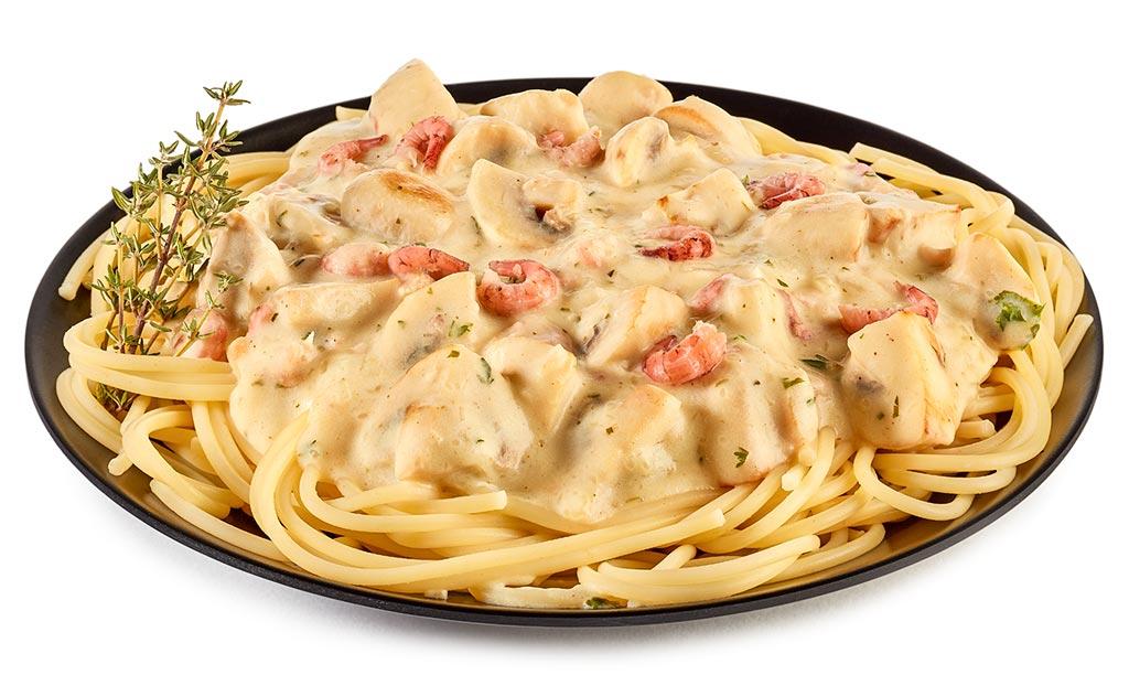 Spaghetti With Shrimp Sauce