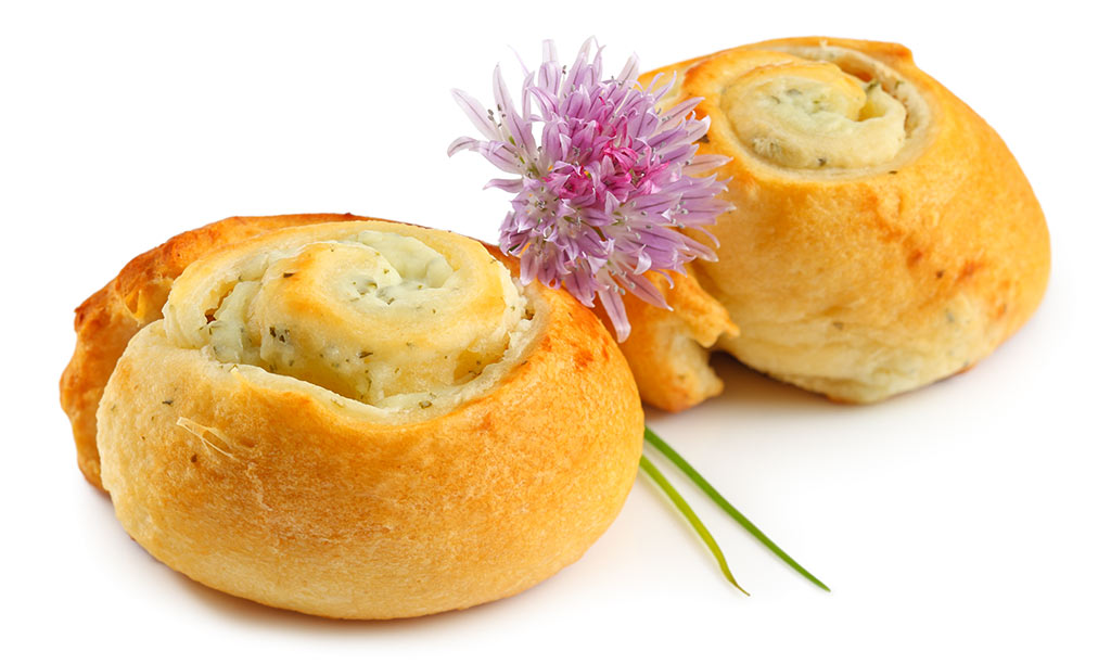 Cheese snails finger food