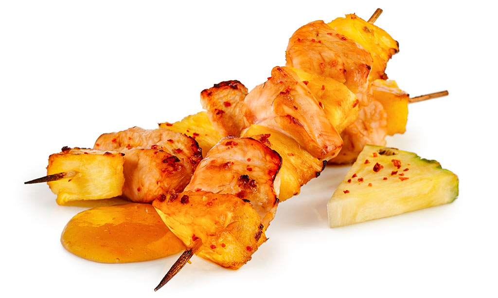 Asian turkey skewers with pineapple