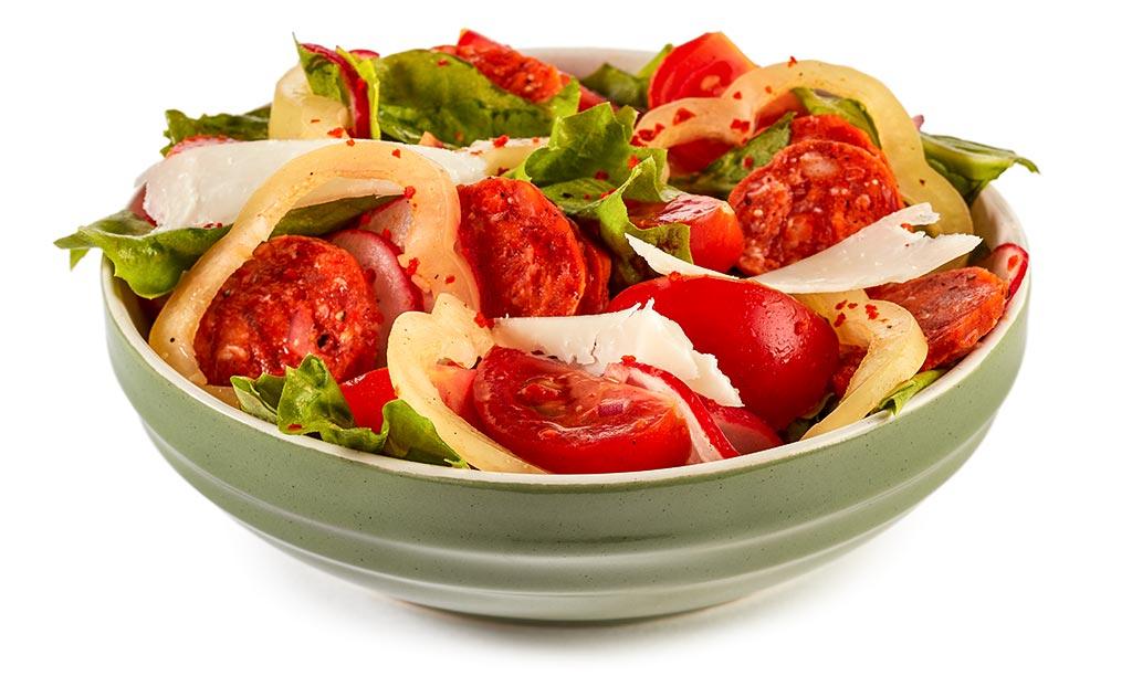Endive salad with chorizo