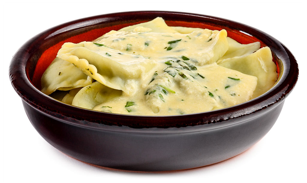 Cappelletti with Three Cheese Sauce