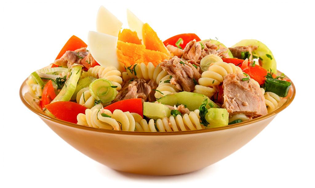 Rezept drucken nudel salat mit thunfisch - Eier hart kochen dauer ...
