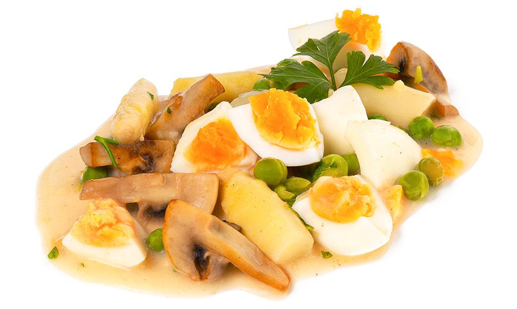 Rezept drucken eier frikassee - Eier kochen dauer ...