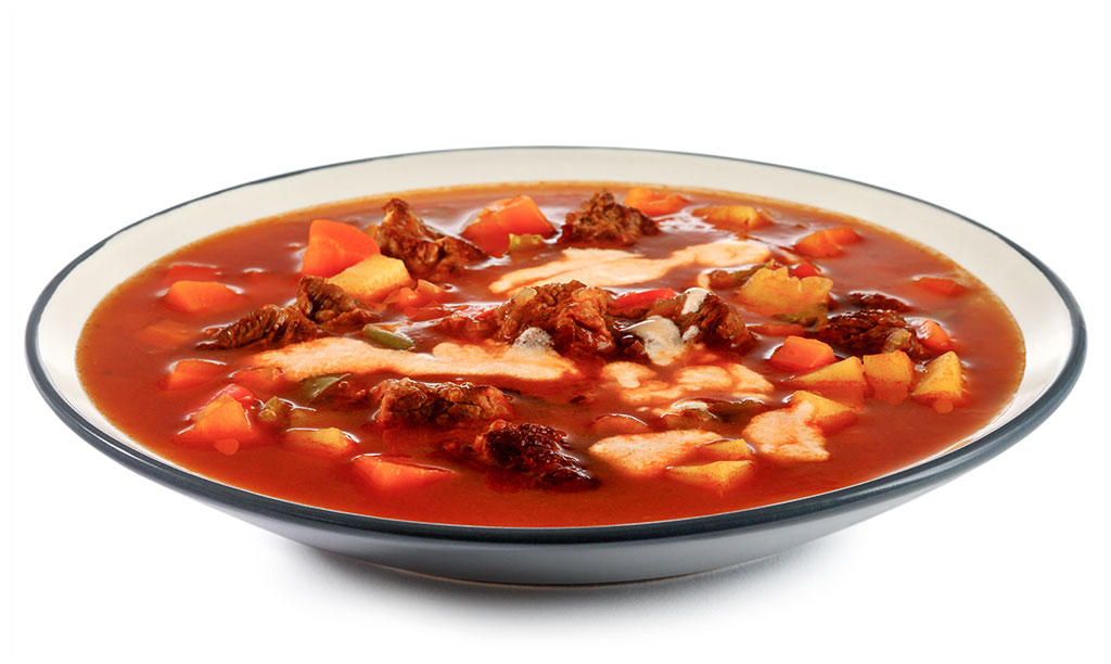 Goulash soup in pressure cooker