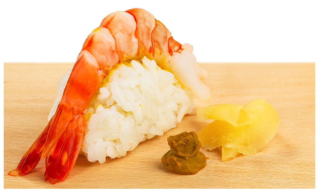Nigiri Sushi With King Prawns