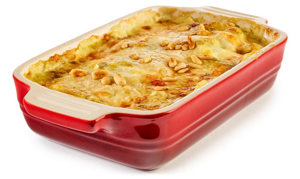 Potato casserole with pesto