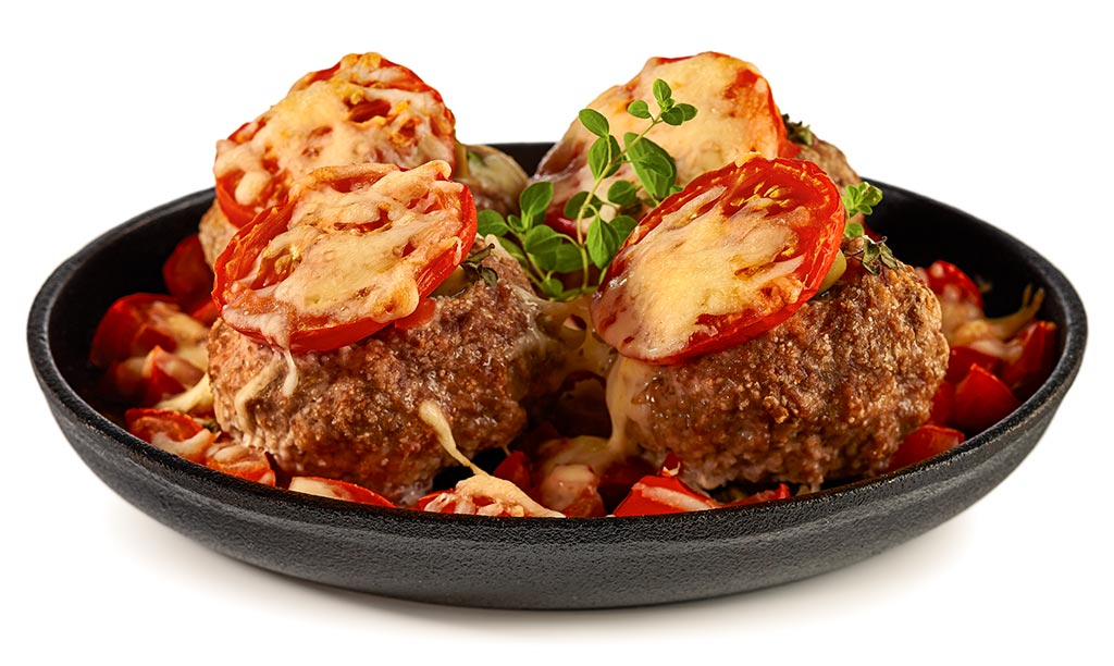 Baked meatballs in the oven