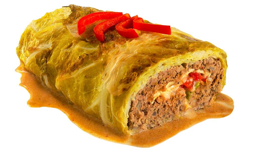 Big Savoy cabbage Roulade Meatloaf