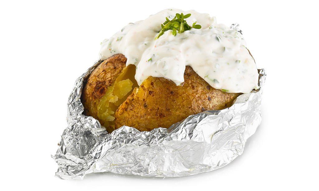 Foil Potato with Herbs Quark
