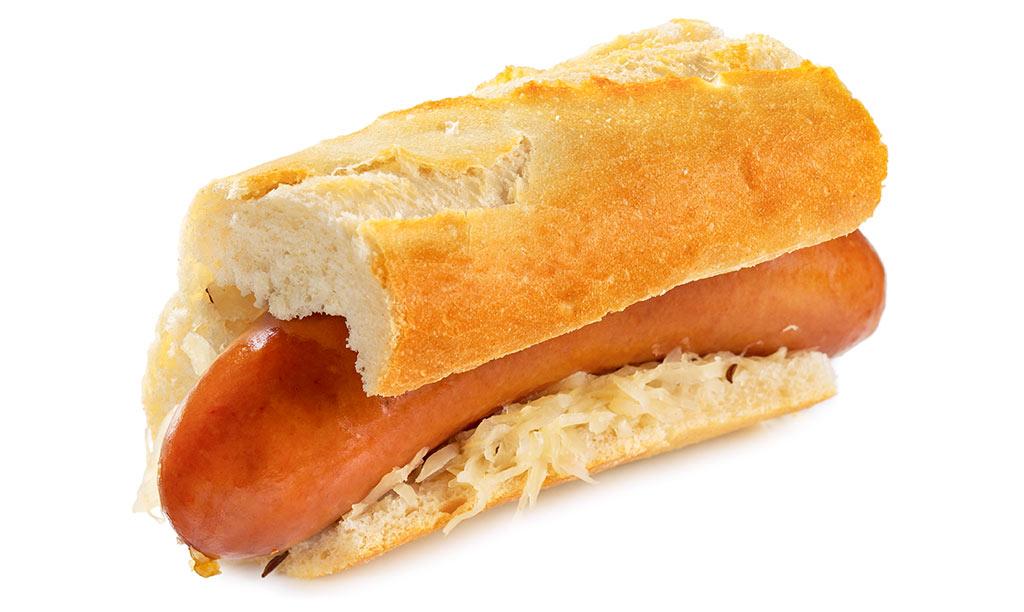 Bock Sausage Hot Dog