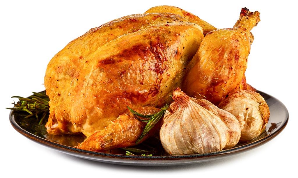 Roast chicken in the oven
