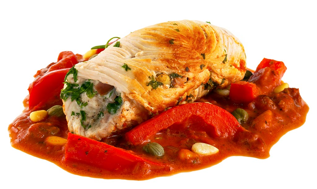 Turkey roulades with vegetables
