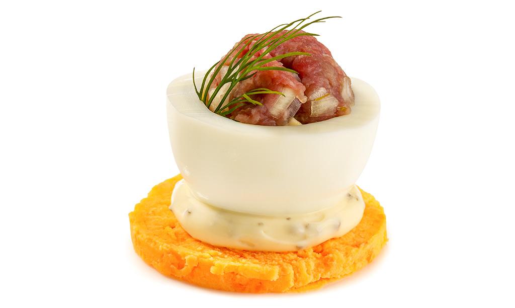 Rezept drucken gef llte eier mit hack b llchen - Eier hart kochen dauer ...