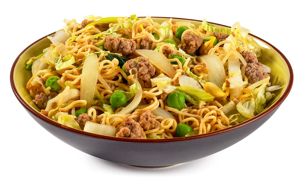 Bami Goreng with minced meat