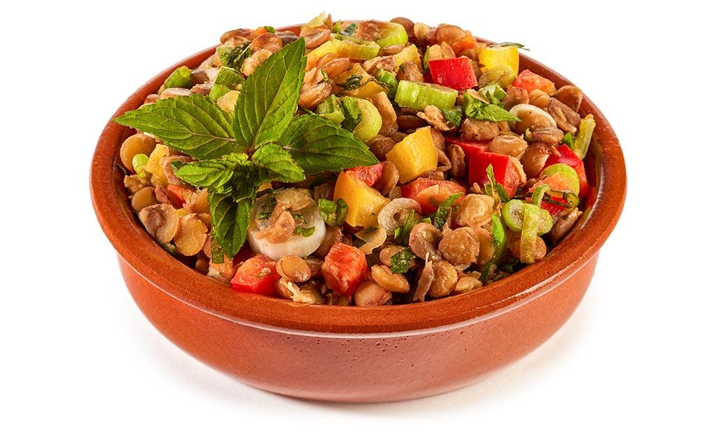 Moroccan lentils salad