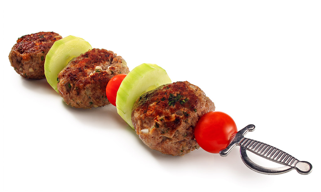 Bifteki shashlik skewers