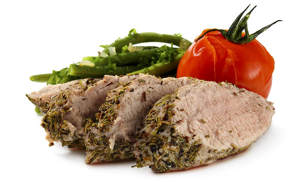 Herb filet with beans Vegetables