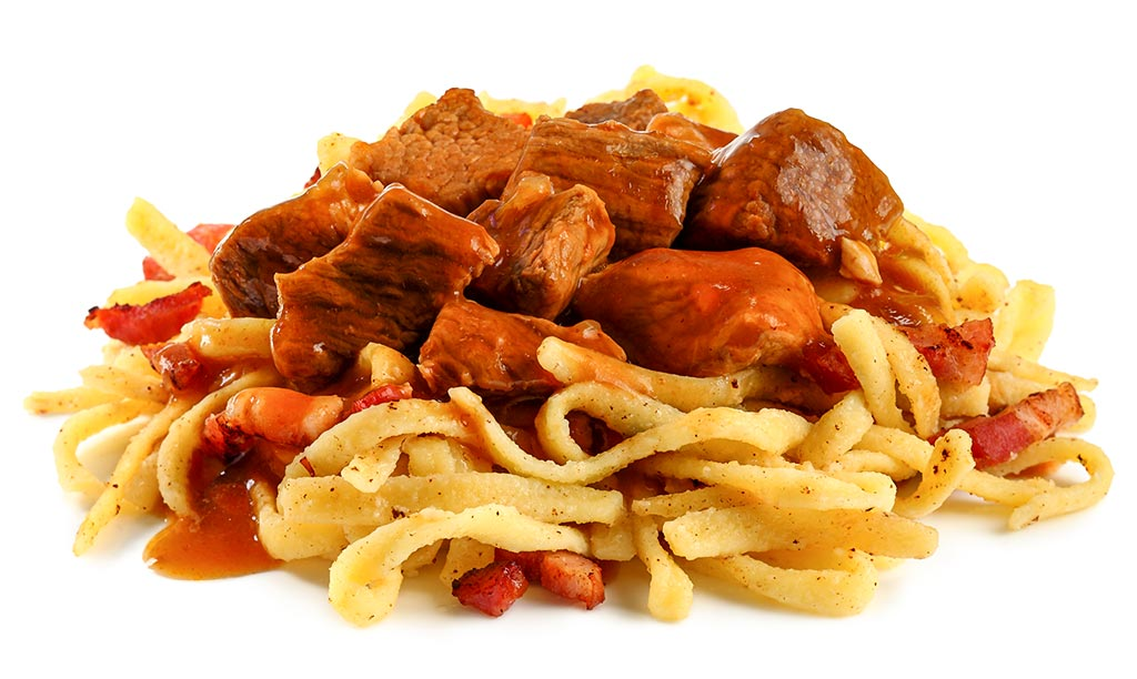 Black Beer Goulash with Spaetzle