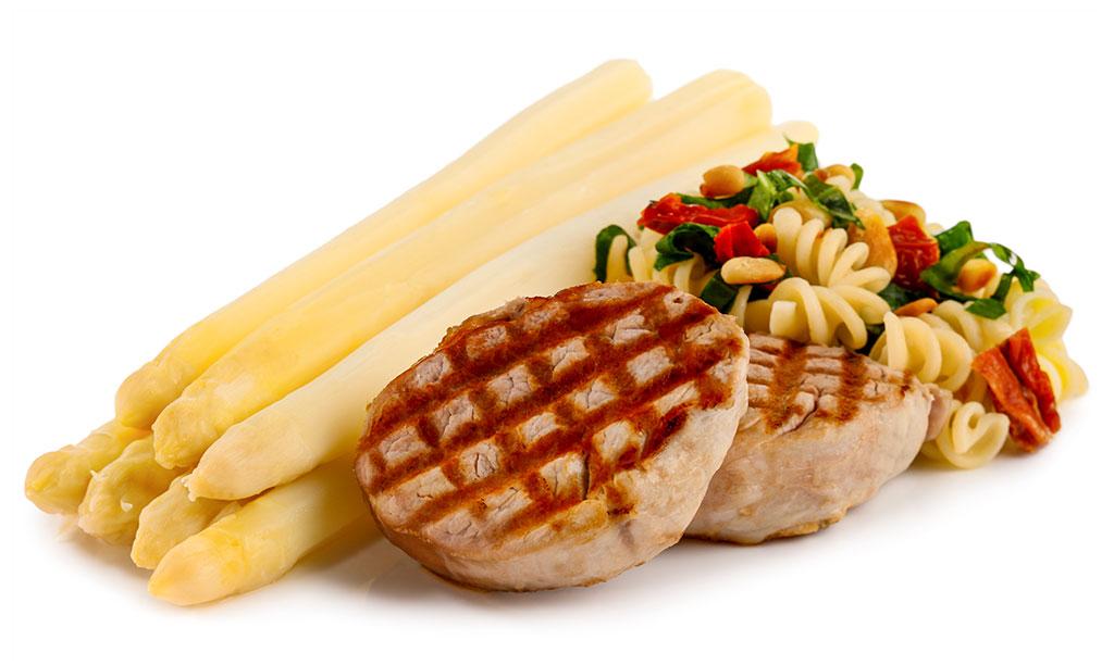 Bear's garlic noodles with asparagus