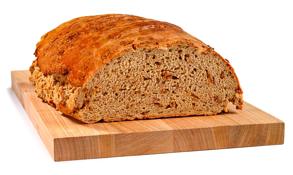 Beer bread with roasted onions