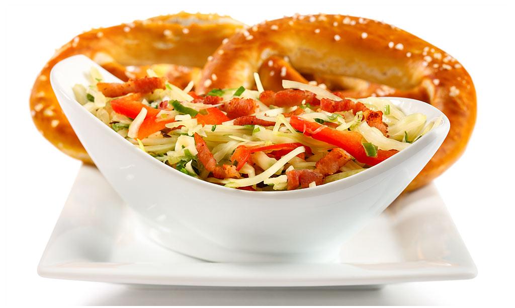 Bavarian cabbage salad & lye pretzel