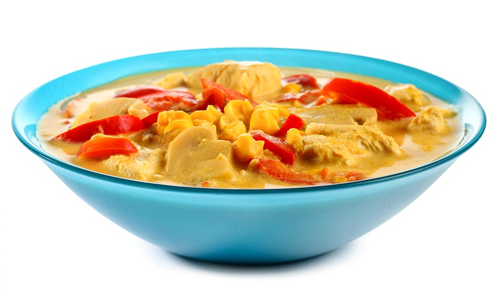Oven soup with turkey meat