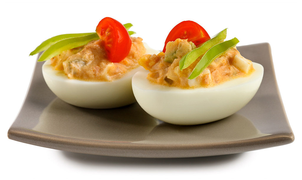 Stuffed eggs with tuna salad