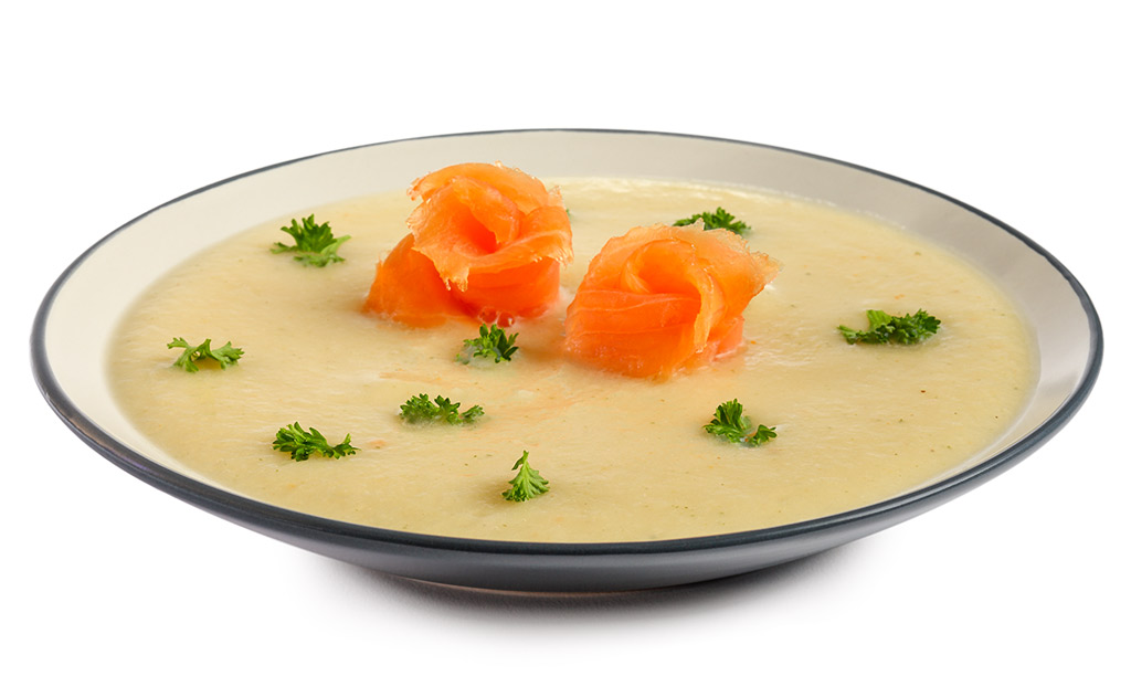 rezept drucken sellerie suppe mit r ucher lachs. Black Bedroom Furniture Sets. Home Design Ideas