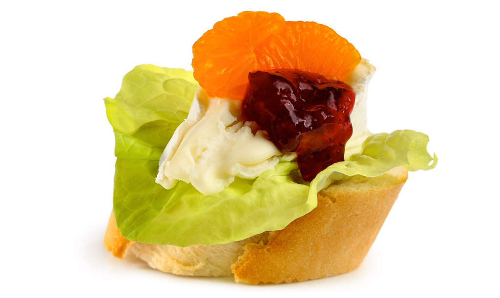 Canapes with Camembert
